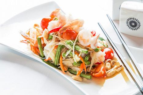 Thai Green Papaya Salad with Shrimp Recipe | The Royal Budha | gharana-restaurant | Scoop.it