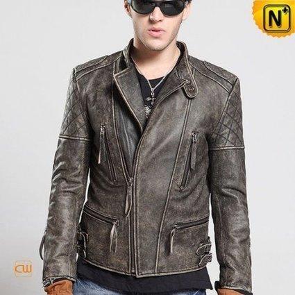 Mens Rider Distressed Leather Biker Jacket CW850108 | Leather Blazer Jacket | Scoop.it