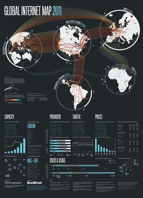 Global Internet Map 2011 | Infographics | Scoop.it