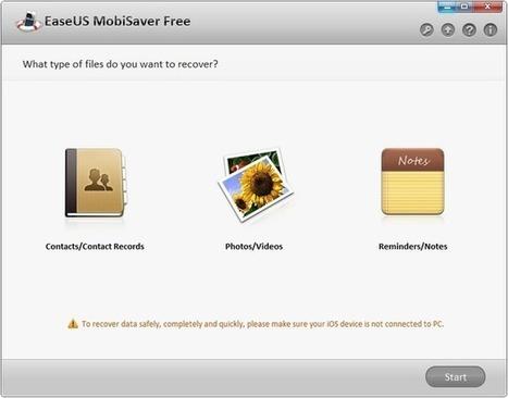 Récupérer facilement vos photos et autres données perdues sur votre iPhone avec EaseUS MobiSaver | Time to Learn | Scoop.it
