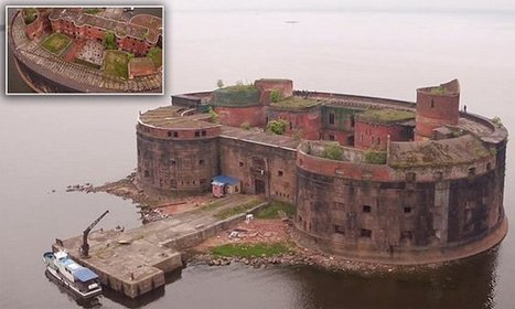 Drone video footage shows abandoned Plague Fort in Russia's St Petersburg | Abandoned Houses, Cemeteries, Wrecks and Ghost Towns | Scoop.it