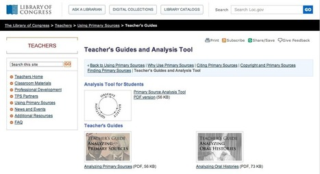 Free Technology for Teachers: Free Guides to Teaching and Learning With Primary Sources | Teaching E-learning | Scoop.it