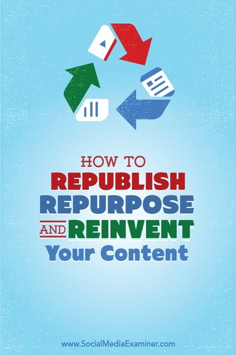 How to Republish, Repurpose and Reinvent Your Content Using LinkedIn Publisher | web learning | Scoop.it