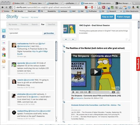 Telling Social Stories with Storify - ProfHacker - The Chronicle of Higher Education | Curation for Learning | Scoop.it