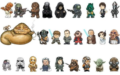 26 personnages de Star Wars dessinés au style Manga SD | Time to Learn | Scoop.it