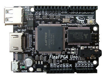 FleaFPGA Uno Board Combines a Lattice FPGA, Arduino UNO Form Factor, HDMI Output, and an ESP8266 WiFi Module | Embedded Systems News | Scoop.it