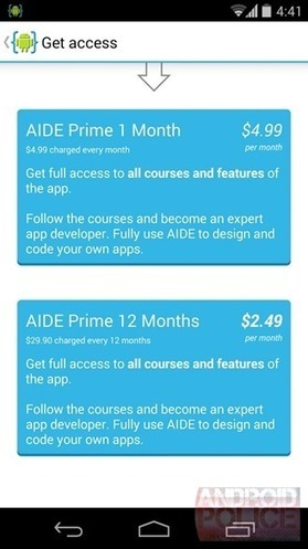 AIDE 2.5 Update Adds Interactive Lessons On Java Programming And Android ... - Android Police | Development on Various Platforms | Scoop.it