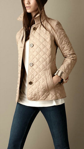 Burberry Copford Quilted Jacket Short Coat Apricot [burberry-7001] - $153.00 : Christian Louboutin Daffodile Pumps ,Burberry Shirts For Womens, Buy Christian Louboutin Pumps , Platform , High Heels... | Burberry | Scoop.it