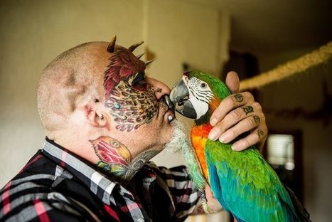 BIRD BRAIN! Man Cuts Off Ears To Look More Like His Parrot | Xposed | Scoop.it