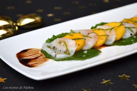 Carpaccio de saint-jacques marinées au citron vert, mangue et feuilles de wasabi - blogs de Nature Blogs | La-Petite.ch - Recettes - Tupperware - Astuces - Liens | Scoop.it
