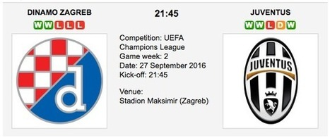 D. Zagreb vs. Juventus - Champions League Preview 2016 | ukbettips.co.uk | Scoop.it