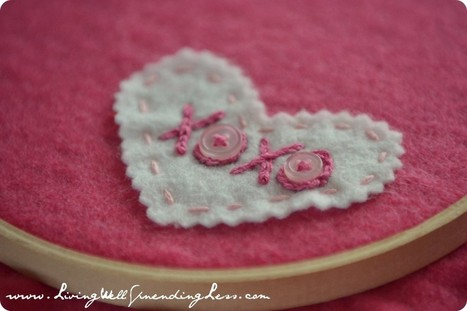 Valentine's Day Embroidery Hoop Art - Living Well Spending Less™ | SMART TINKER SCOOPS FOR PARENTS | Scoop.it