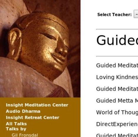 Audio Dharma - Guided Meditations | Ray's Spiritual and Inspirational stuff | Scoop.it