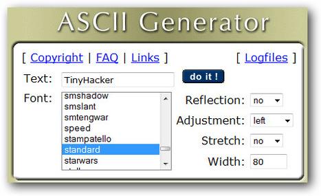 ASCII Generator Creates Old-School Text Signatures :: TinyHacker | ASCII Art | Scoop.it