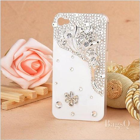 $ 41.99 Noble Butterfly Rhinestones Carrying Case for iPhone4/4S | favourites | Scoop.it
