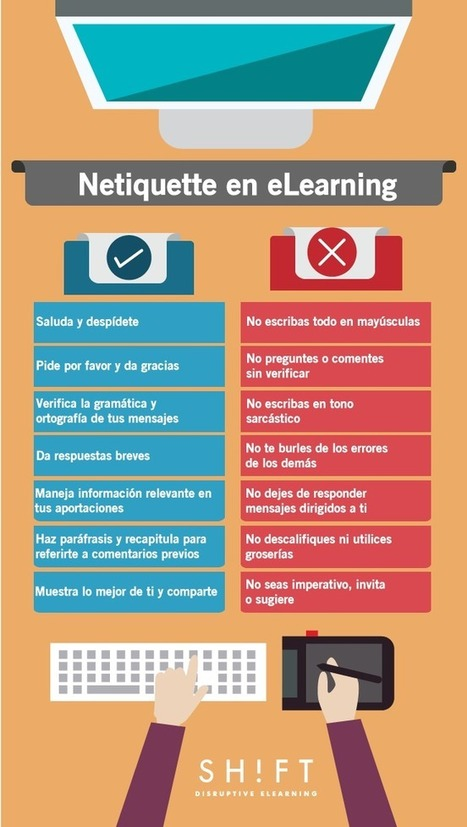 Netiquette: manual de cortesía para la comunicación en eLearning | Elearnig, Blended: Diseño Instruccional, Storytelling | Scoop.it