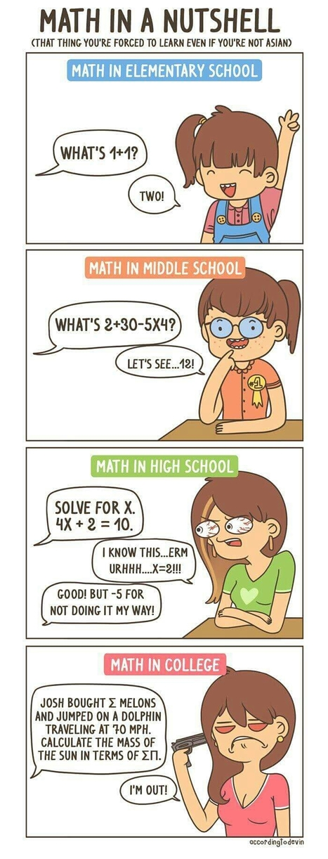 Maths   Educational cartoons and jokes   Scoop.it