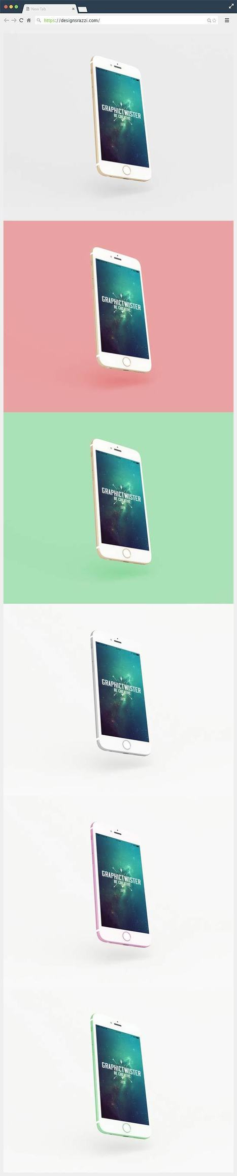 Free PSD Gravity iPhone 6s Mockup | Designrazzi | Designrazzi | Scoop.it