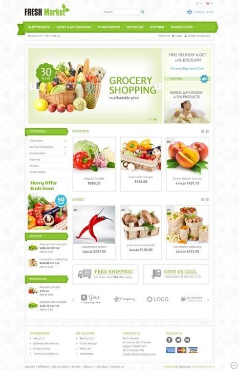 Fresh Market Responsive OpenCart Theme - ServerThemes.Net | Best Premium OpenCart Themes | Scoop.it