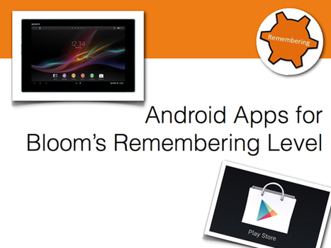 Android Apps for Bloom's Remembering Level | Redes sociales | Scoop.it