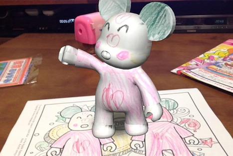 Une application en réalité augmentée qui donne vie aux coloriages de vos enfants ! | Geeks | Scoop.it