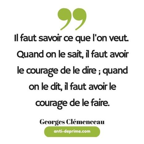 Motivation par Georges Clémenceau : il faut savoir ce que l'on veut.   Succès   Scoop.it