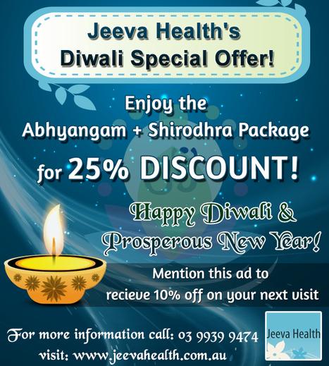 Jeeva Health's Diwali Special Offer! | Jeeva Health - Ayurveda in Australia | Scoop.it
