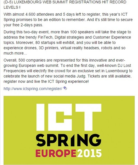 ICT Spring Europe 2015 - Innovating the customer experience - Luxembourg - Europe | Luxembourg (Europe) | Scoop.it