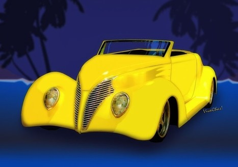 Ford Roadster 1937 in the Palms from Vivachas | VivaChas!  Hot Rod Art | Scoop.it