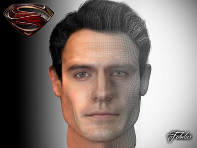 Visage en 3D de Superman   3D Library   Scoop.it