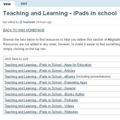 digitalstudieswiki [licensed for non-commercial use only] / Teaching and Learning - iPads in school | Inclusive teaching and learning | Scoop.it