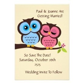 Owl Wedding Invitations and Announcements Which Can Be Personalised   wedding time   Scoop.it
