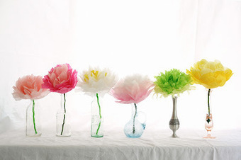 Rust & Sunshine: Tissue Paper Flowers | Only Good News | Scoop.it