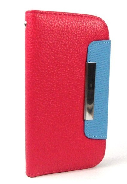 Dark Pink Foilo Wallet Leather Case for Galaxy S34G | Mobile Phone Accessories | Scoop.it
