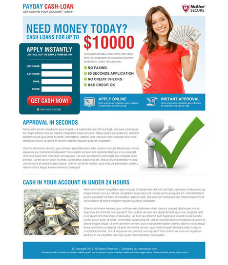 payday-cash-loan-landing-page-design-4 | Payday Loan landing page design preview. | converting and effective landing page designs | Scoop.it