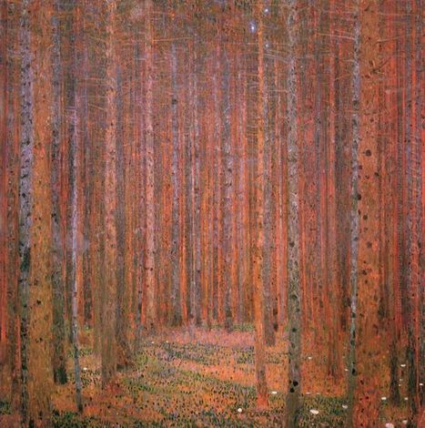 Oil painting reproduction: Gustav Klimt Fir Forest I - Artisoo.com | Landscapes oil paintings | Scoop.it