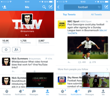Twitter for iOS now lets you watch videos in a mini player while continuing to browse your timeline | MarketingHits | Scoop.it