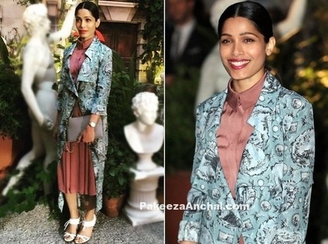 Frieda Pinto dressed in Burberry from Fall 2016 Collection | Indian Fashion Updates | Scoop.it