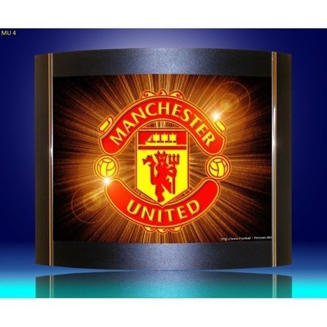 Wall lamps, sconces. Manchester United logo as lamp shades. | Lighting bargains | Scoop.it