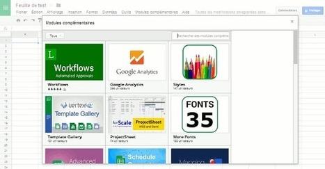 Ajout de fonctions aux Google Docs avec les modules complémentaires   Le Newbie   MEEF Doc Lille 3   Scoop.it