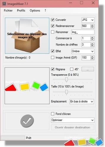 [Logiciel] ImagesMixer 7.1, pour traiter vos images par lot (convertir, redimensionner, renommer, filigrane, GIF Animé, fond d'écran) | TIC et TICE mais... en français | Scoop.it
