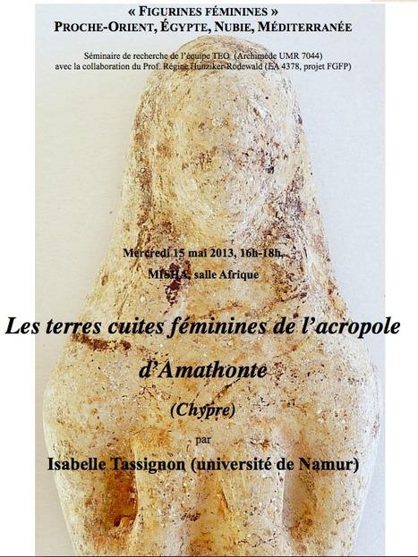 """Séminaire de recherche """"Figurines féminines (Proche-Orient, Egypte, Nubie, Méditerranée)""""   Égypt-actus   Scoop.it"""