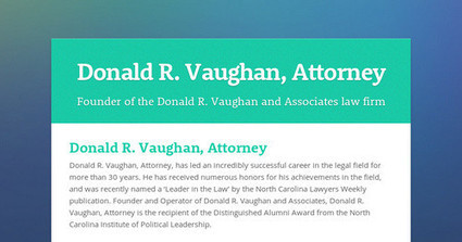 Donald R. Vaughan, Attorney | rodneysb101 | Scoop.it