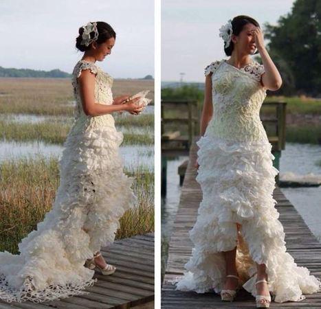Surfside Beach woman designs toilet paper wedding dress   SUP for cure   Scoop.it