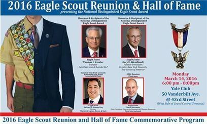 Calling NYC Eagle Scouts. March 14, 2016 Eagle Scout Hall of Fame, Yale Club. | Connect Eagle Scouts To Your Unit, District or Council Committee | Scoop.it