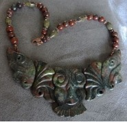 Carved Bloodstone Owl Necklace | Draped in Stone Jewelry | Scoop.it