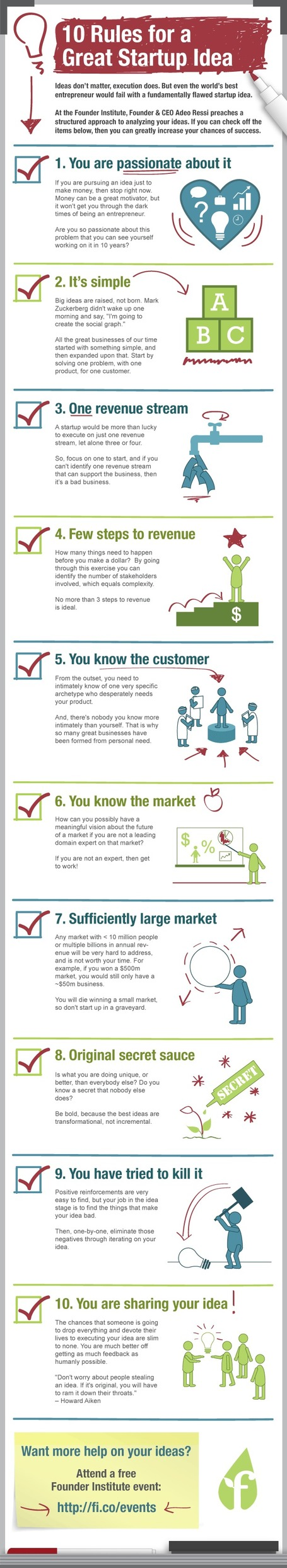 10 Rules to a Great Startup Idea #infographic | MarketingHits | Scoop.it