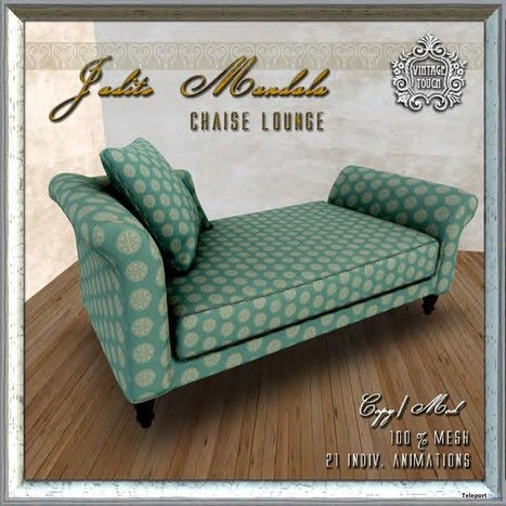 Jadite Mandala Chaise 800 Members Group Gift by The Vintage Touch | Teleport Hub - Second Life Freebies | Second Life Freebies | Scoop.it