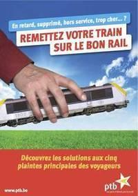 Action du PTB aux gares ce 28 mai : « Remettez votre train sur le bon rail »   Ptb Namur   Scoop.it