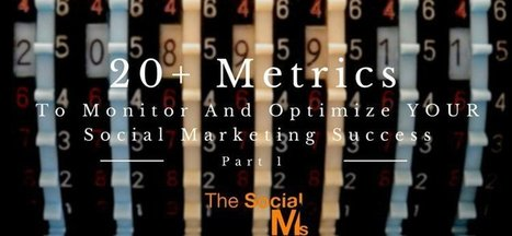 20+ Metrics To Monitor And Optimize YOUR Social Marketing Success - Part 1   Social Selling & Media sociaux en B2B   Scoop.it